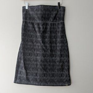 Billabong Ikat Strapless Dress Grey Size Medium